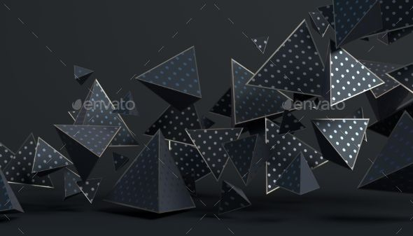 Abstract 3d Rendering Of Geometric Shapes Geometric Shapes Geometric Abstract