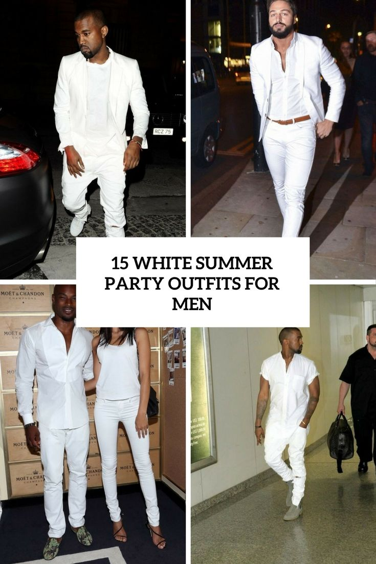 White Party Summer Outfits For Men Cover Mens Style All Black
