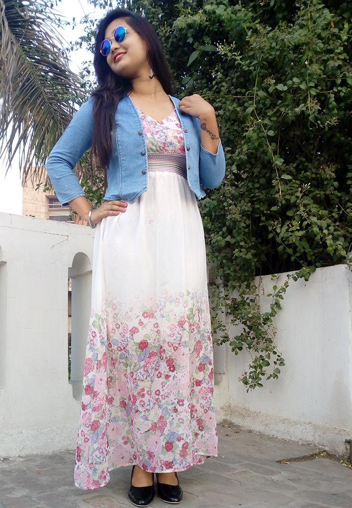 Dress With Denim Jacket