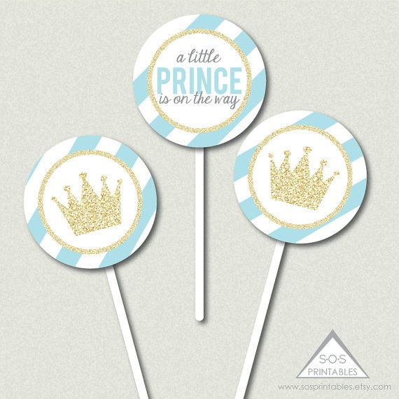 Little Prince Cupcake Toppers Little Prince Baby by SOSPrintables