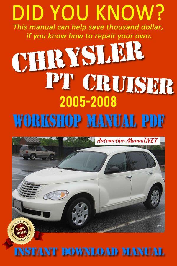 Download Chrysler Pt Cruiser 2005 2008 Workshop Manual Pdf Chrysler Pt Cruiser Cruisers Repair Manuals