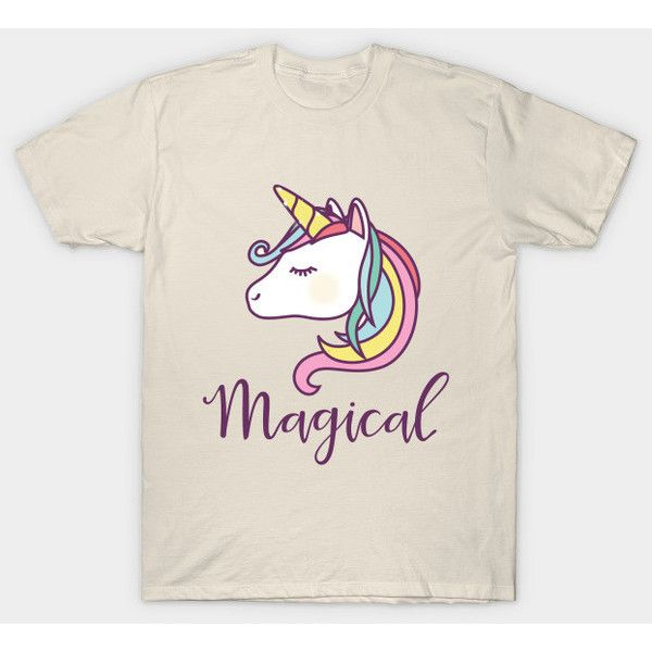 Unicorn T-Shirt ($14) ❤ liked on Polyvore featuring tops, t-shirts, animals, art, artist, draw, animal tees, animal t shirts, unicorn top and unicorn t shirt