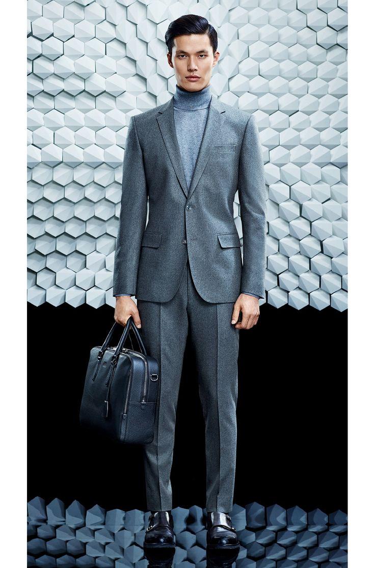 Slim-Fit Anzug aus Schurwoll-Mix mit Kaschmiranteil: 'Huston2/Gander'