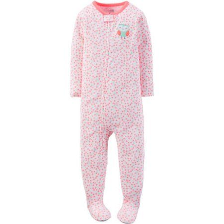 Child of Mine made by Carter's Newborn Baby Girl 1 Piece Sleeper - Walmart.com