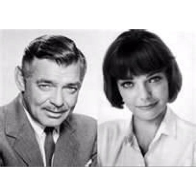 CLARK GABLE and JUDY LEWIS (secret daughter by Loretta Young)