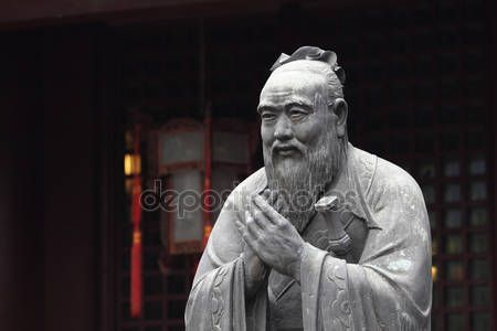 Download - Statue of Confucius at Confucian Temple in Shanghai, China — Stock Image #7911765