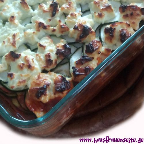 Zucchini Auflauf mit Hackfleisch und Feta glutenfrei sehr lecker!