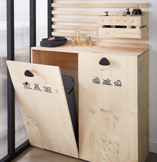DIY : Créer un meuble buanderie pour la salle de bains ...