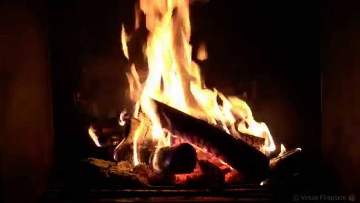 Virtual Fireplace: Soft Crackling Fireplace with Piano Background Music ...