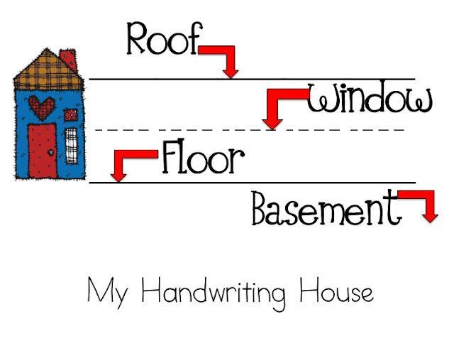 Handwriting House  :)Classroom, Ideas, Handwriting House, Handwriting Helpful, Schools, Teaching Handwriting, Teachers, Handwriting Practice, Management Mondays