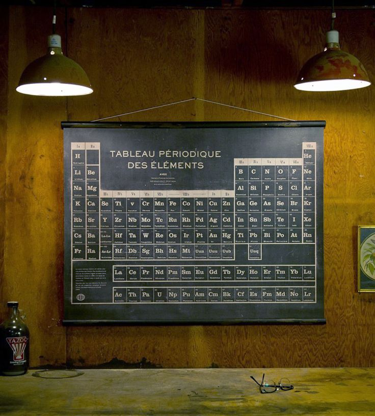 For chemistry buffs who are also francophiles, here's a periodic table for walls, en francais.