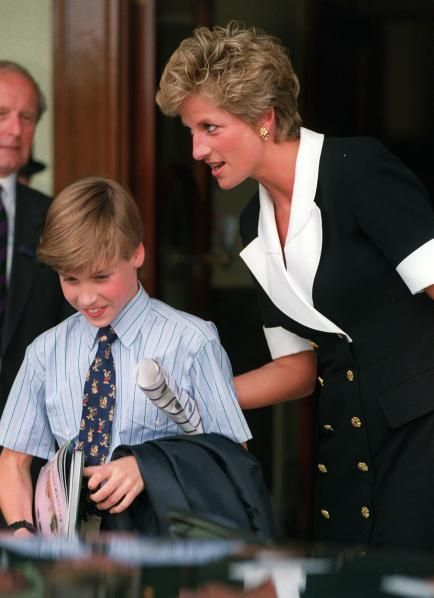 July 2, 1994: Princess Diana with Prince William at the Martina Navratilova VS. Conchita Martinez, woman's singles final at Wimbledon.