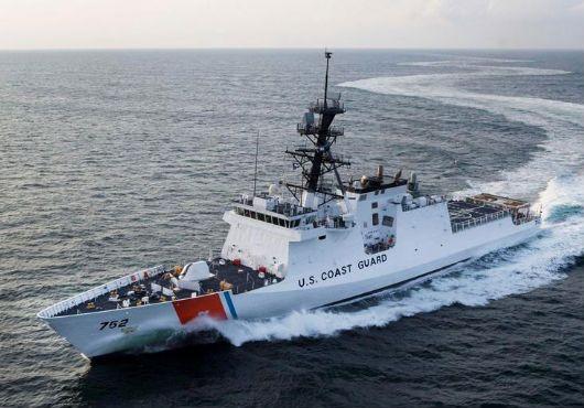 U.S. Coast Guard Legend-class National Security Cutter USCGC Stratton (WMSL-752).