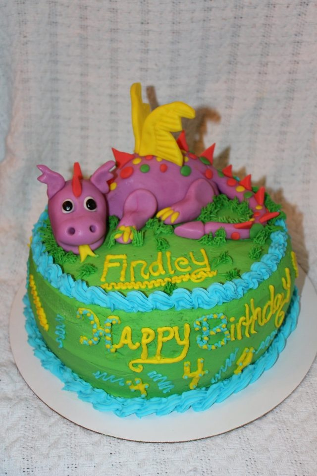 Dragon Cake I Made for a little boy's birthday :)