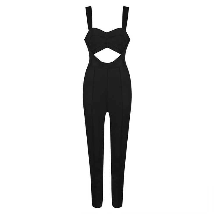 Hego New Hollow Out Backless Spaghetti Strap Sexy Summer Evening Wear Jumpsuits