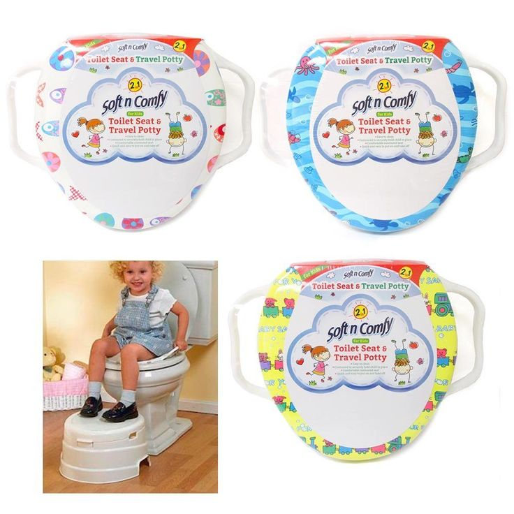 1 Baby Toilet Seat Travel Potty Training Soft Cushion Padded Cover Toddler New