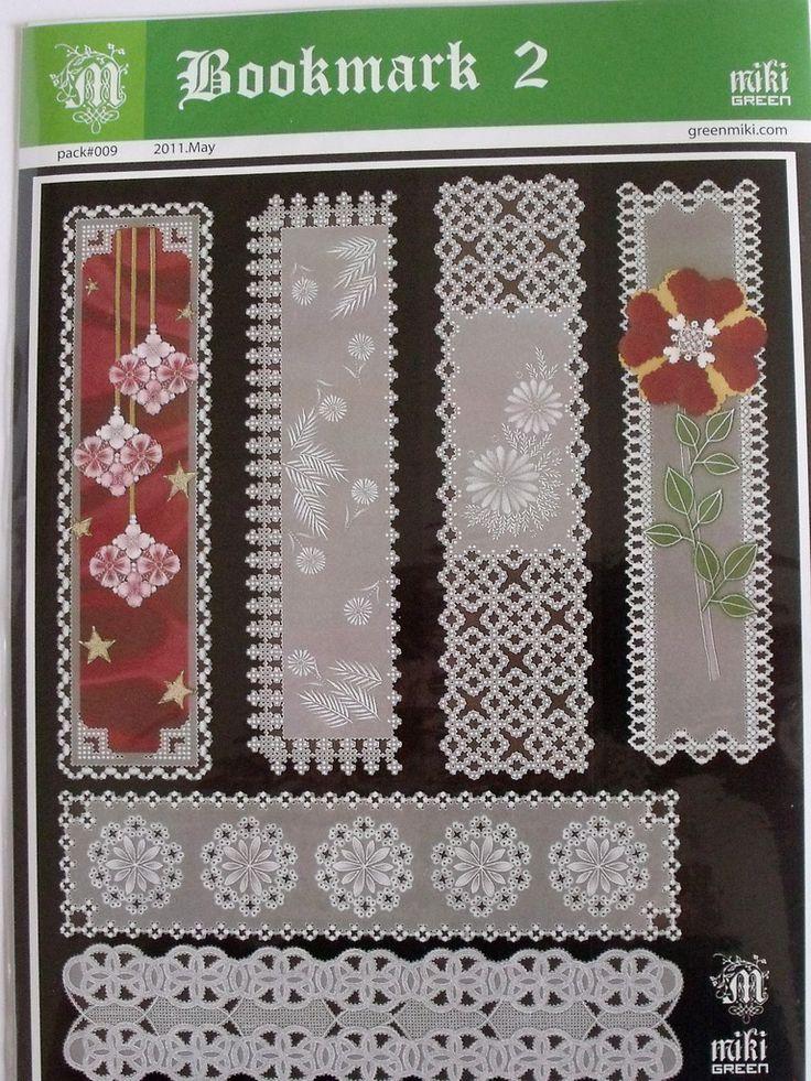 MIKI GREEN PATTERN - BOOKMARK 2 Miki Green's pattern - Bookmarks 2. Six beautiful patterns for bookmarks.