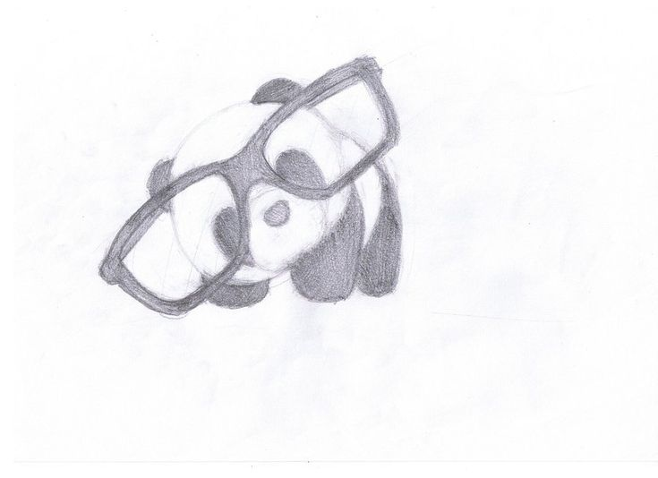 Panda with Glasses by ~Nheckscar on deviantART