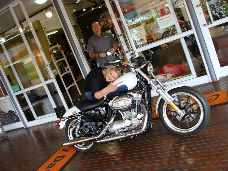 Very many happy miles on your beautiful 2015 Superlow Heloise! Great to welcome you as a member of the Big Five family and we look forward to seeing you on the road! Not many ladies with a new super-cool white Sporty for Xmas!