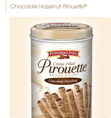 THESE MUST BE AT THE PARTY! hehe ;) Pepperidge Farm® - Pirouette® Rolled Wafers