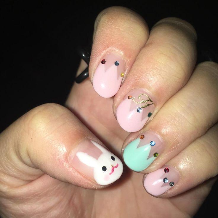 いいね!11件、コメント3件 ― Haruka Wakiyamaさん(@haruka_halca)のInstagramアカウント: 「爪にウサギが居て幸せ😊✨ #子供ウケ良し  #ベトナム人ウケ良し #男性ウケは、、、?」