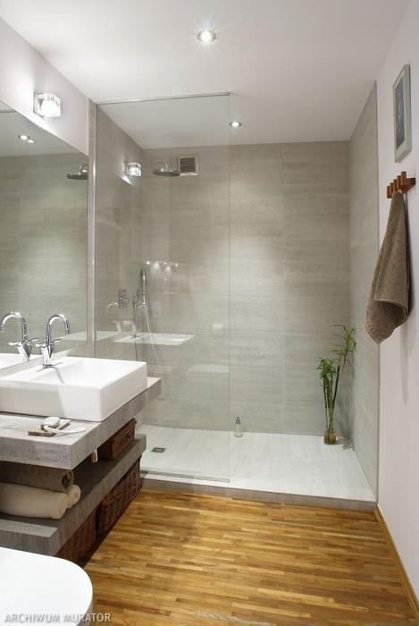 Galeria zdjęć - Pomysł na aranżację łazienki - prysznic bez brodzika - zdjęcie nr 1 - Muratordom.pl
