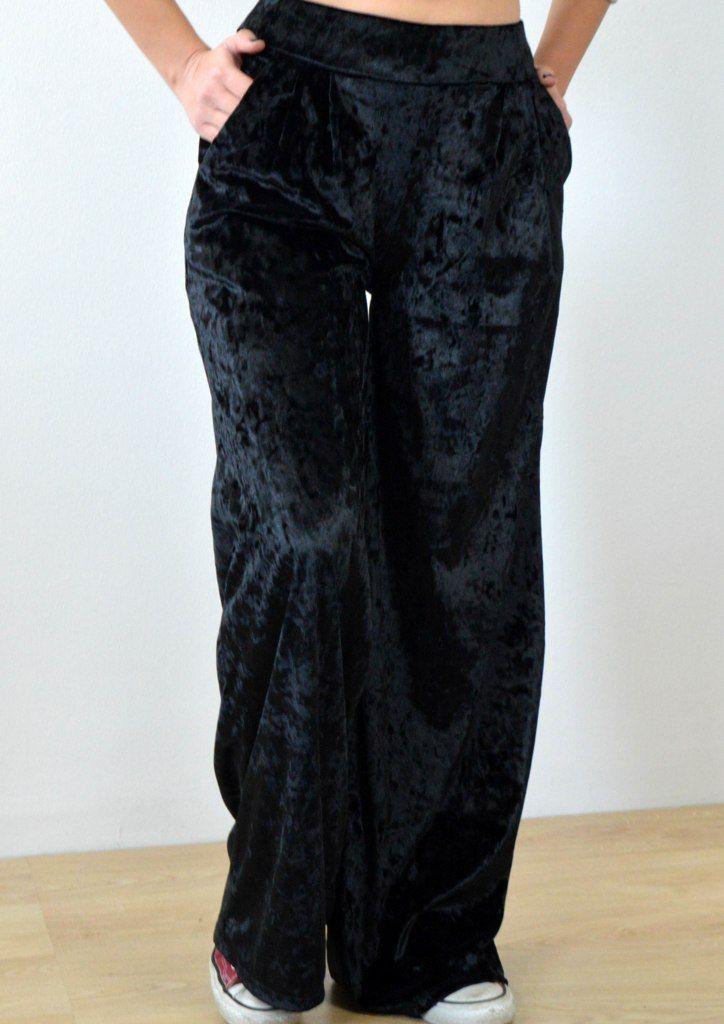 Παντελόνα Βελούδο Ψηλόμεση - ΜΑΥΡΟ | shop online: www.musitsa.com