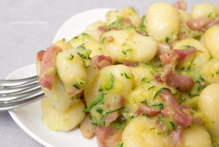 Gnocchi zucchine e pancetta