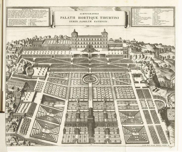 Tuinen van de Villa d'Este te Tivoli, 1726, Anonymous, Pieter van der Aa (I), 1726