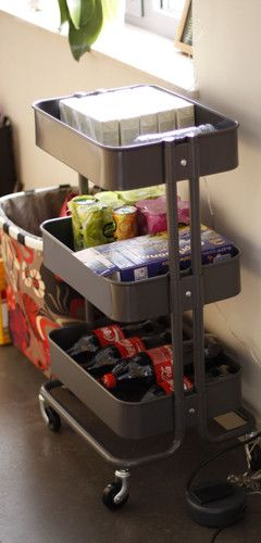 RASKOG Kitchen Trolley, Dark grey - zoomly