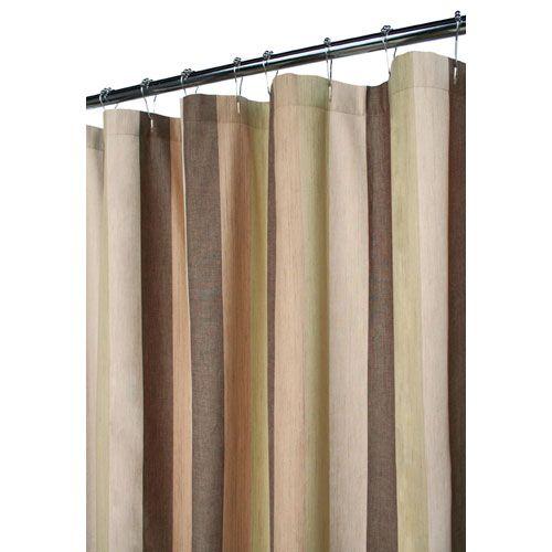 Meadowood Celadon 6 Ft. X 6 Ft. Stripe Shower Curtain