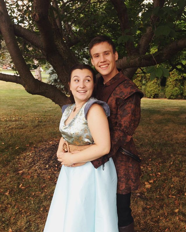 Pin for Later: 21 Sweet Game of Thrones Costume Ideas For Couples Margaery Tyrell and Tommen Baratheon