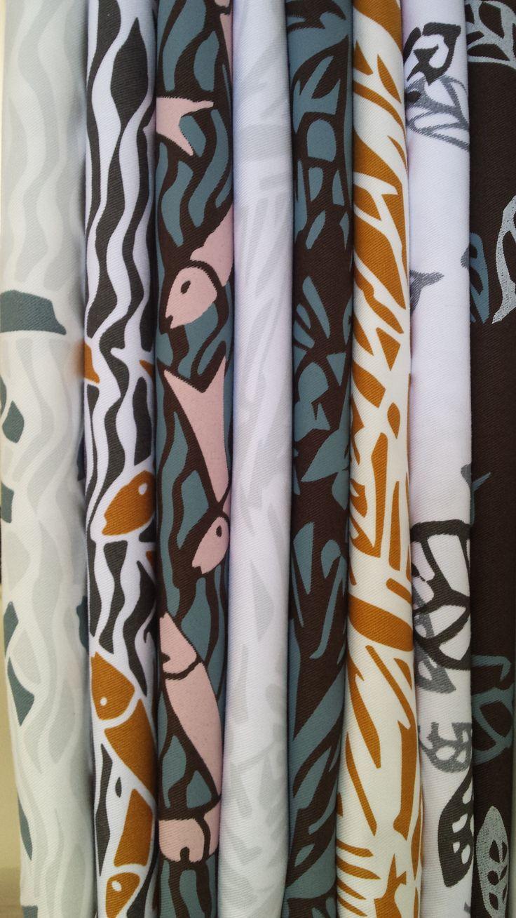 Lino-cut inspired designs
