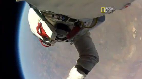 Dit zag Baumgartner tijdens zijn recordsprong uit de ruimte!