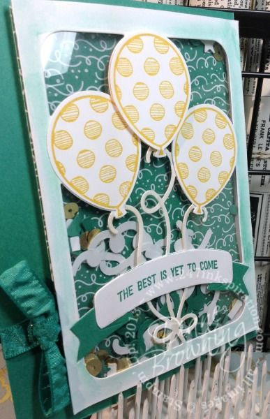 OnStage 2016 (November) Display Sample by Diane Browning: Party Animal Suite, Balloon Adventures stamp set, Party Animal Designer Series Paper