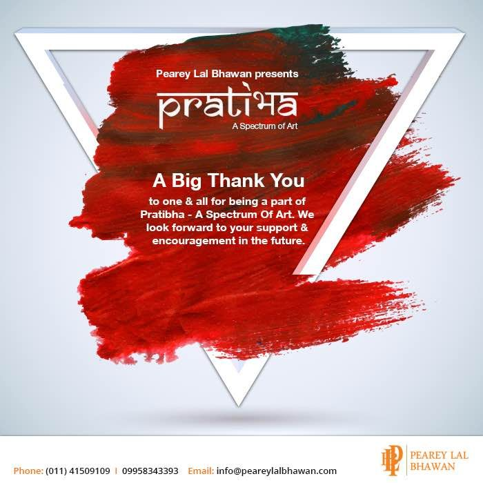 We are thankful to everyone for being a part of Pratibha - A Spectrum Of Art. We look forward to your continuous support. #Art #Peareylalbhawan #Artizenartgallery #Pratibha #Artfair #Artfairindia #Creative #Creativeminds #Artist #Artistic #Artcollector #Colours #Spectrum #Loveofart #Loveforart#Participatenow #Artlover #Graffiti #Graffitiart #Curators #Artcurators #Artindelhi#Delhievents #Culturalevent #Culturalhub