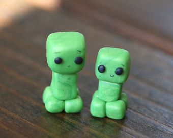minecraft polymer clay charms - Google Search