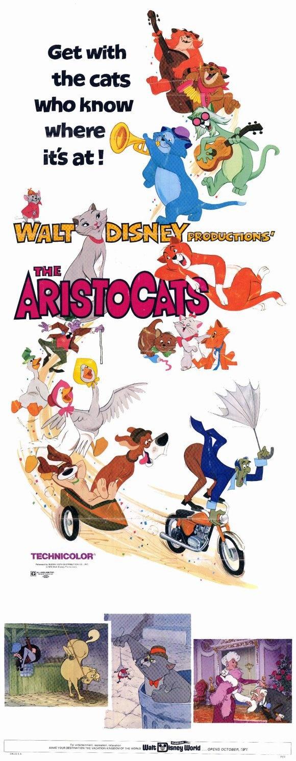 """Aristocats"" movie poster ca. 1970"