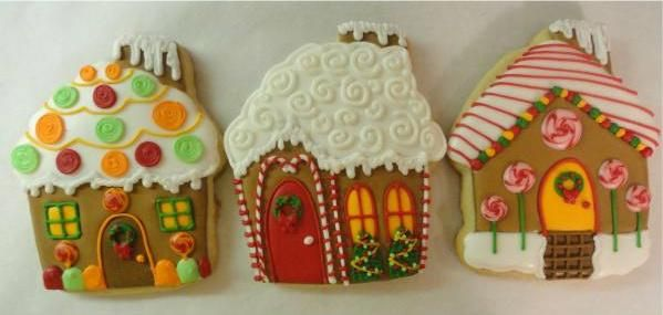 Gingerbread house cookies!, via Flickr.