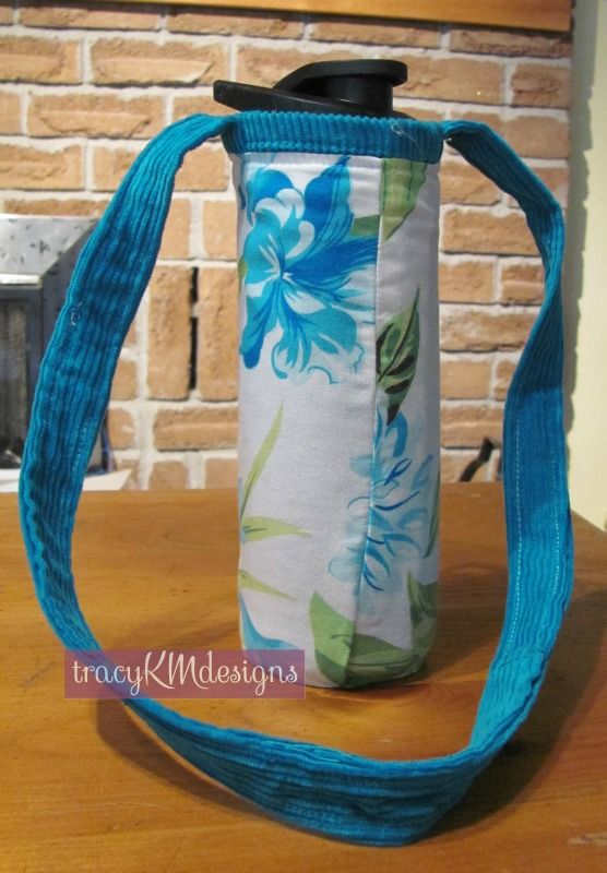 Reversible water bottle holder.  Usually one of a kind since I use upcycled, thrifted, or reclaimed materials.  Two sizes.  $15 (+S).