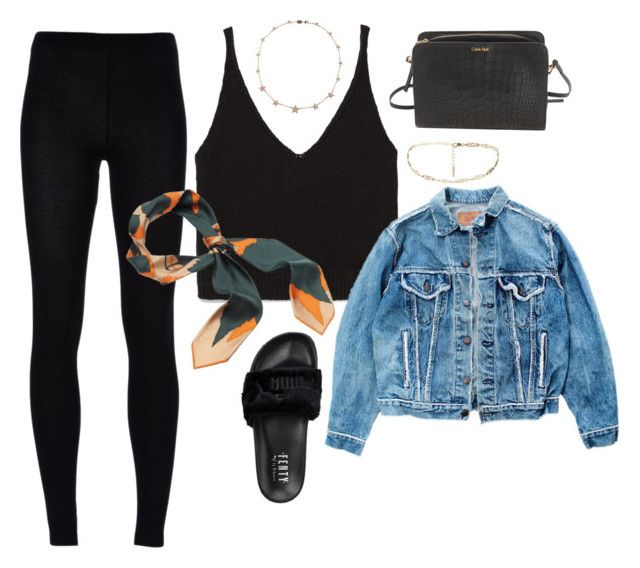 """""""taking him to and from work"""" by stylistcookies ❤ liked on Polyvore featuring Zara, MM6 Maison Margiela, Levi's, Puma, Lee Angel Jewelry and Calvin Klein"""