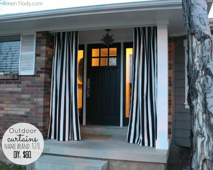 DIY~ Outdoor Curtains