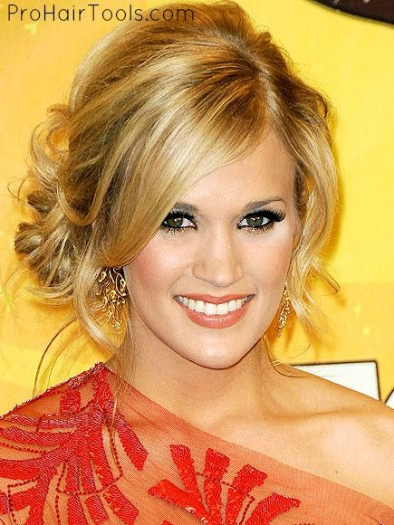 I always Love Carrie Underwoods updos! Maybe I'll try this for my next bridesmaid updo!