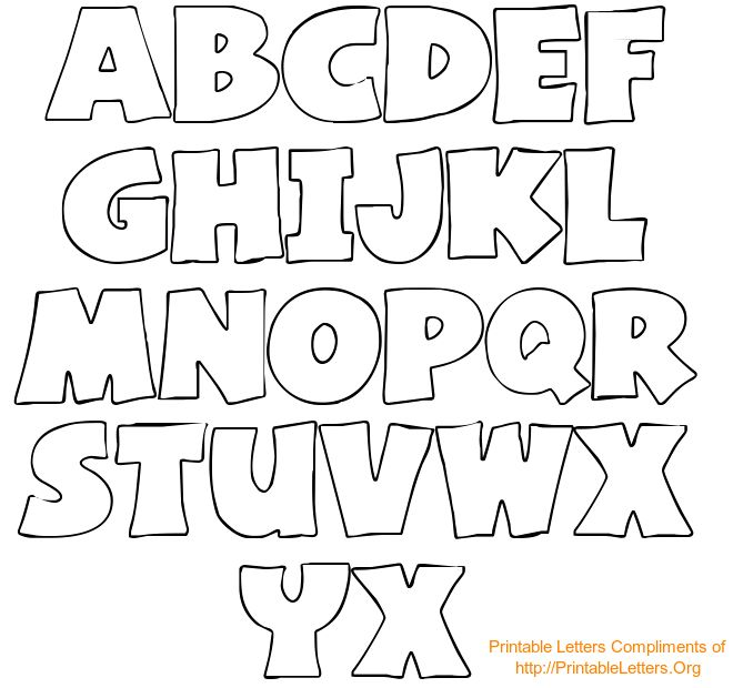 Alphabet letters to trace and cut @printableletters.org #alphabet #LetterTemplate