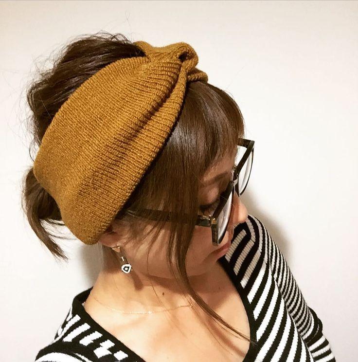 . atelier brugge ニットターバン color/ブルーマスタードグレーブラック 4600tax  とりあえず可愛いターバン入荷(ㅅ  ) 髪型一つにまとめて付けとけば オシャレに見える ニットなのでずれ落ちにくい( ) 普段こういうのしないけど これは買ったヤツ() 可愛い(  )  #秋コーデ #ヘアアクセサリー #ヘアターバン #ヘアアレンジ #ニットターバン #簡単ヘアアレンジ #マスタードカラー #セレクトショップunsourire #吹田市セレクトショップ #吹田市関大前駅セレクトショップ #吹田市セレクトショップアンスリール #大阪府吹田市