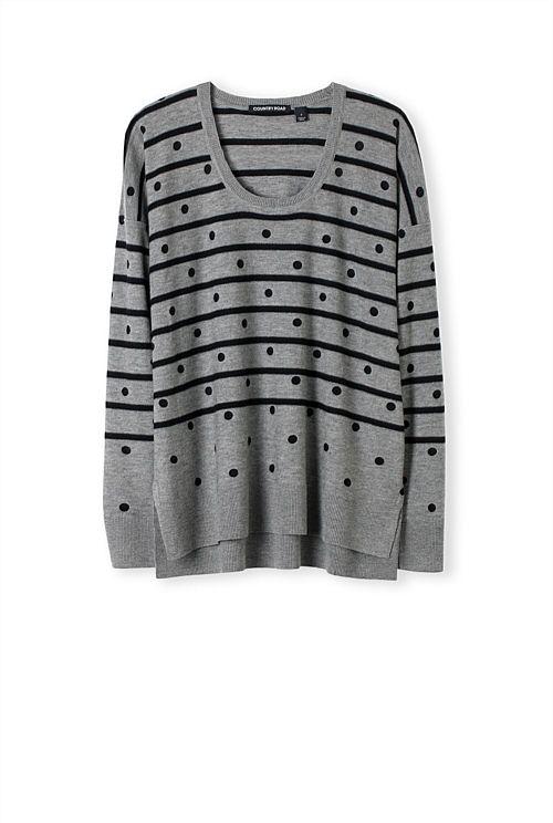 Spot Stripe Knit