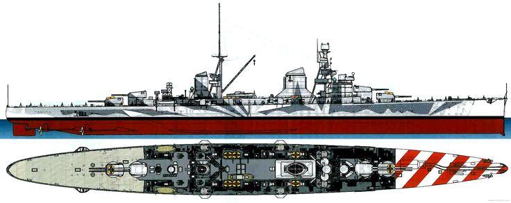 Trento Italian Heavy Cruiser.
