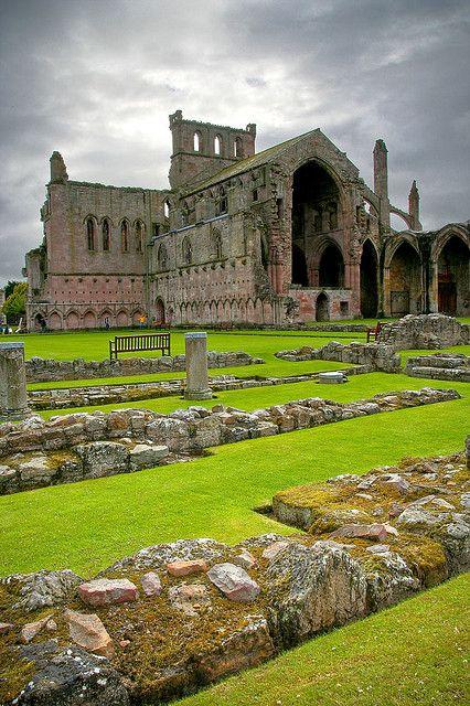 Melrose Abbey,- Scotland