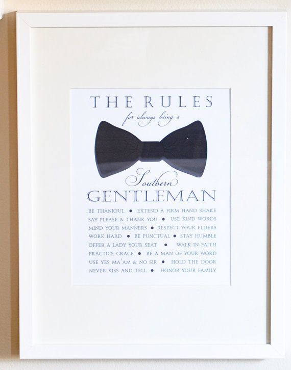 Southern Gentleman Rules Bow Tie Print in by DixieDelightsBlog