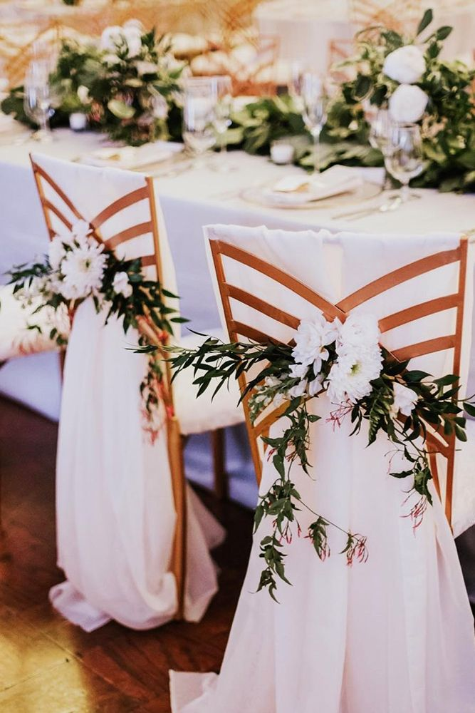 Best 25 chair decoration wedding ideas on pinterest wedding 30 greenery wedding decor ideas budget friendly wedding trend junglespirit